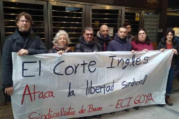 El Corte Inglés, condenado por vulnerar la libertad sindical de delegados de Sindicalistas de Base