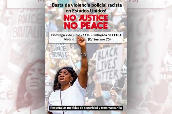 Concentración de solidaridad ¡Basta de violencia policial racista en Estados Unidos!