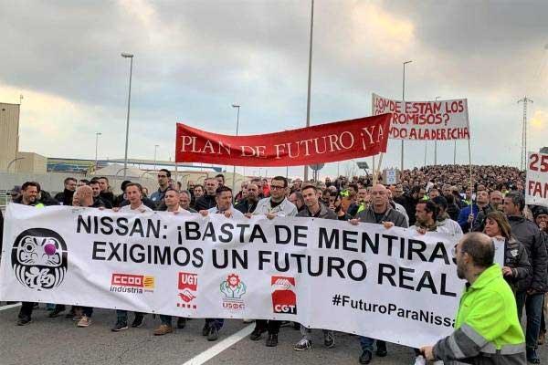 Nissan: ¡Basta ya de ceder al chantaje de la empresa!