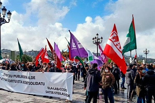 Ezker Iraultzailea con la huelga general del sector público vasco el 22 de abril