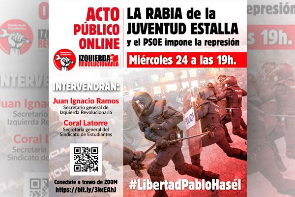 Acto público: La rabia de la juventud estalla y el PSOE impone la solución represiva