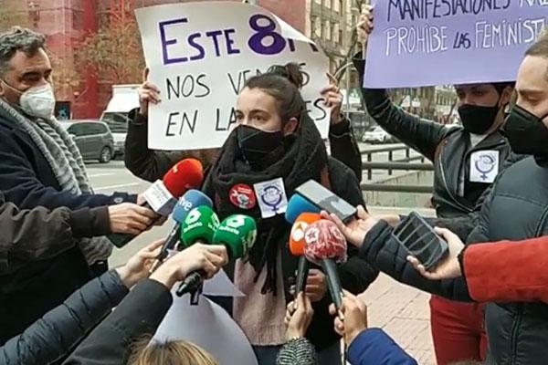 El Delegado del Gobierno en Madrid prohíbe antidemocráticamente las concentraciones del 8M ¡Totalitarismo no, feminismo sí!