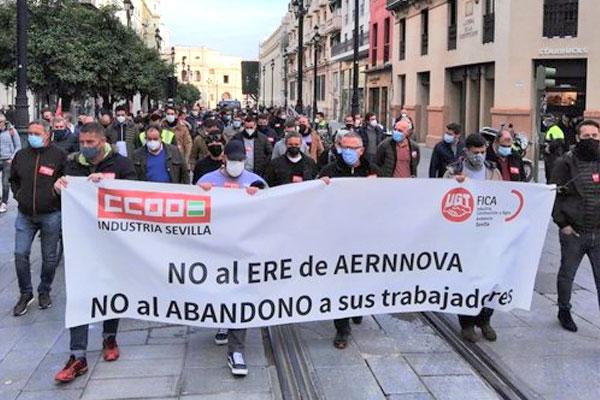 Balance de la lucha de los trabajadores de Aernnova Sevilla