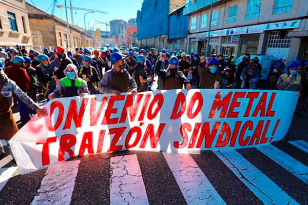 Solidaridad con los trabajadores y trabajadoras del Metal de la provincia de Pontevedra