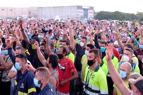Cádiz. 9 y 10 de noviembre ¡todos y todas a la huelga general del metal!