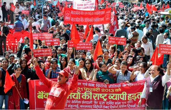 India · Huelga general histórica contra la política reaccionaria del Gobierno del BJP
