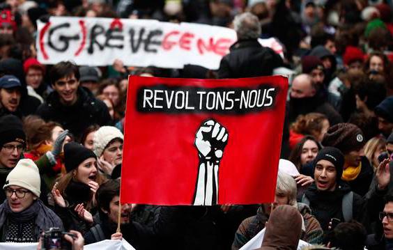 Éxito rotundo de la huelga general en Francia