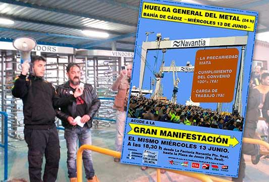 Estado español: Rebelión de los obreros del metal en Cadiz