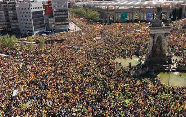 15 de abril, una manifestación histórica ¡Más de un millón en Barcelona por la libertad de los presos políticos y el fin de la represión!