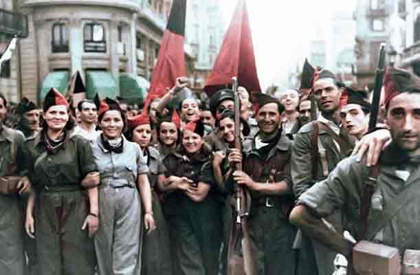 Milicianas en la revolución española